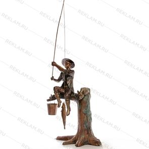 Ростовая фигура Мальчик на рыбалке