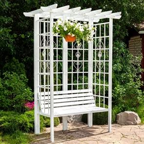 белая арка для сада