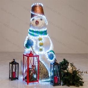 Ростовая фигура с подсветкой Снеговик