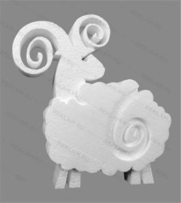 Скульптура из пенопласта Баран