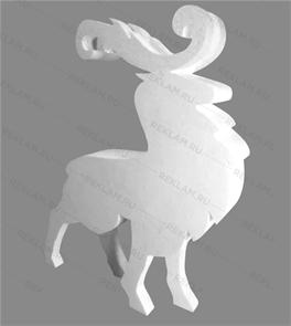 Скульптура из пенопласта Благородный олень