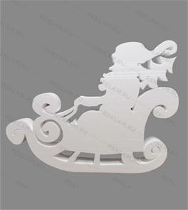 Фигура из пенопласта Дед мороз в санях