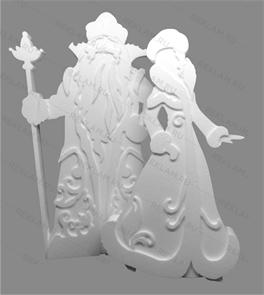 Фигура из пенопласта Дед мороз и Снегурочка