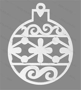 Фигура из пенопласта Елочный шар