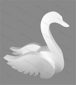 Фигура из пенопласта Лебедь
