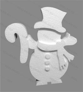 Скульптура из пенопласта Снеговик