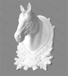 Скульптура из пенопласта панно голова коня