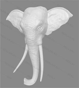 Скульптура из пенопласта Пано голова слона