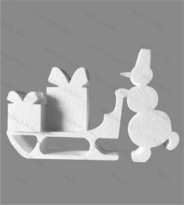 Скульптура из пенопласта Снеговик с подарками