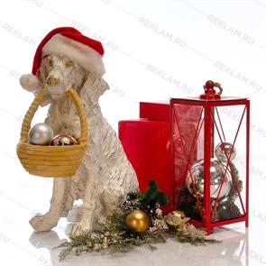 новогодняя фигурка собака спаниель