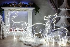 Комплект светодиодных фигур оленей