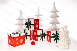 Новогодний комплект фигур елки и подарки