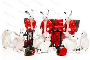 Комплект новогодних фигур зайцы