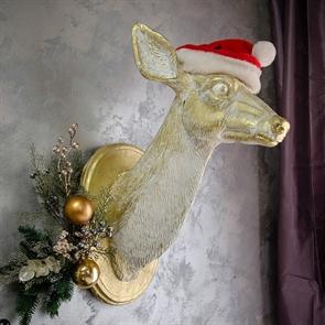 Панно голова Оленихи, новогодний декор