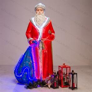 новогодняя фигура дед мороз с подсветкой