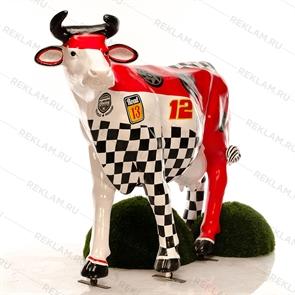 рекламная фигура корова