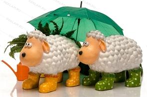 Фигура овечки для детской площадки