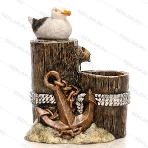 фонтан чайка для дизайна морского кафе