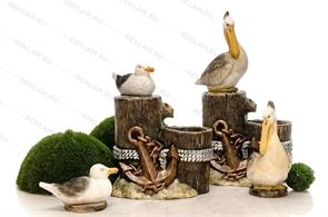 фигуры для оформления кафе морской тематики
