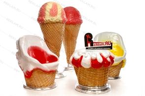 объемные фигуры мороженого