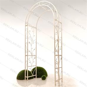 Садовая арка со скамейкой
