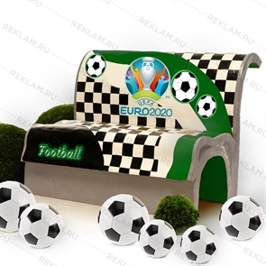 Лавка стеклопластик футбол