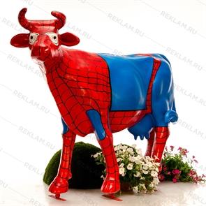 "{{photo.Alt || photo.Description || 'Объемная фигура Корова ""Паук"", пластик'}}"