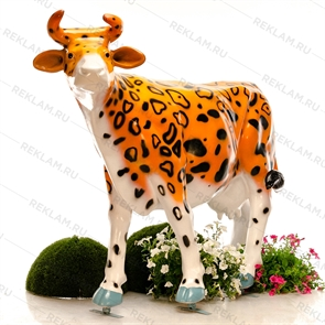 "{{photo.Alt || photo.Description || 'Ростовая фигура Корова ""Леопард""'}}"