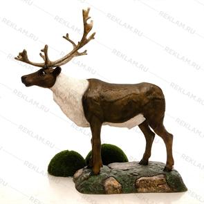 объемная фигура олень северный