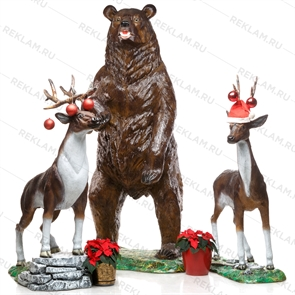 {{photo.Alt || photo.Description || 'Комплект фигур Медведь, олень, косуля, стеклопластик, 3 шт.'}}