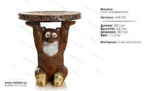 мебель из полистоуна стол медвежонок U08130