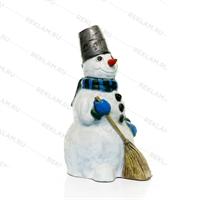 объемная фигура из стеклопластика снеговик