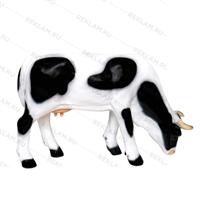 объемная рекламная фигура коровы из пластика