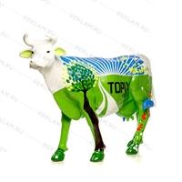 рекламная фигура коровы из стеклопластика