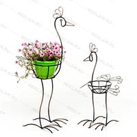 кованые цветочные подставки в виде животных