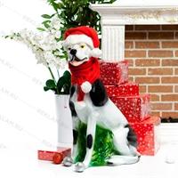рекламная фигура из полистоуна собака