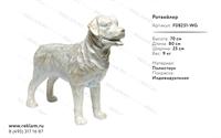 новогодняя рекламная фигура собаки