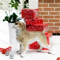 рекламная фигура собака мопс