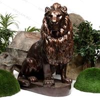 ростовая фигура льва под бронзу