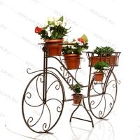 кованая бронзовая подставка велосипед