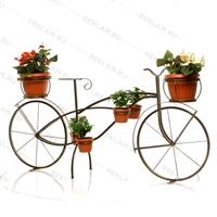 цветочница велосипед под бронзу