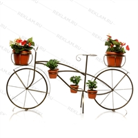 бронзовая цветочница велосипед