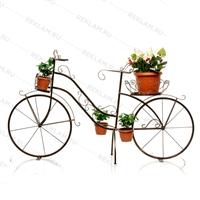 цветочный велосипед под бронзу