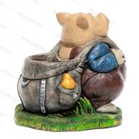 декоративное кашпо в виде свиньи