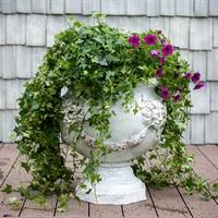 цветочный вазон под мрамор