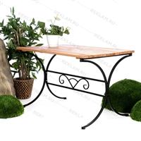 кованый стол для летнего кафе