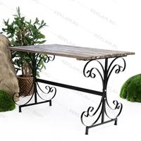 кованый стол для летней площадки