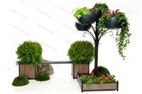 комплект вертикального озеленения для скверов и парков