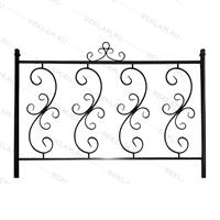 кованый забор для парка