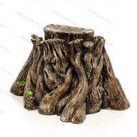 декоративный фонтан под дерево